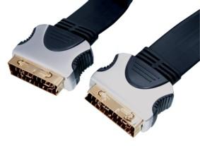 Platte Scart Kabel OFC