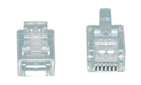 6-polige Modulaire Stekker