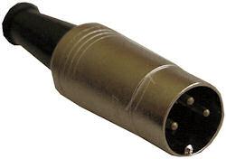 DIN Plug - 3 Polig Male