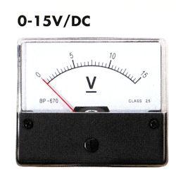 Paneel Meter 15V DC