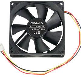 92mm Fan met 3pin konnektor