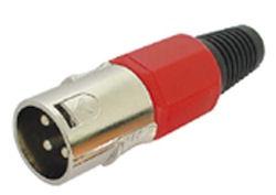 XLR Plug 3polig Male Rood