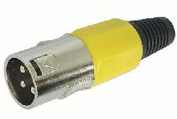 XLR Plug 3polig Male Geel
