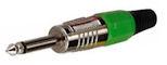 Jack Plug 6,3mm mono Groen