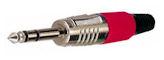 Jack Plug 6,3mm stereo Rood