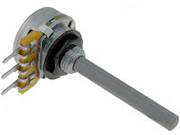 Potmeter 1M Lineair - 4mm as