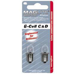 2 lampjes Maglite 6C / 6D