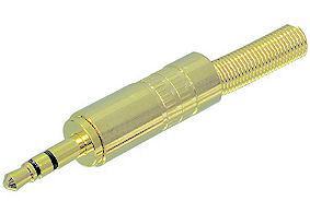 Vergulde Jackplug 3,5mm