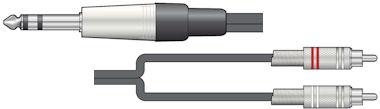 Stereo Jack-Tulp Kabel 3,0m