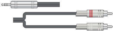 Stereo Jack-Tulp Kabel 1,5m