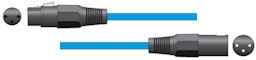 XLR Microfoonkabel 6,0m Blauw