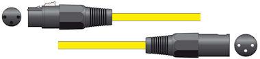 XLR Microfoonkabel 3,0m Geel