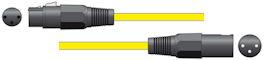 XLR Microfoonkabel 6,0m Geel