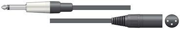 Mono Jack - XLR Kabel 12m