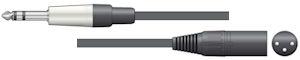 Stereo Jack - XLR Kabel 6,0m