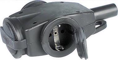 3-Voudige Rubber Contrastekker