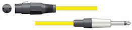 Microfoonkabel - Geel - 6,0m