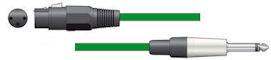 Microfoonkabel - Groen - 12m