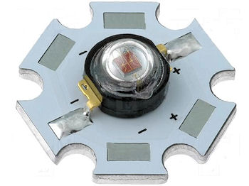 1W Power LED Geel - Op=Op