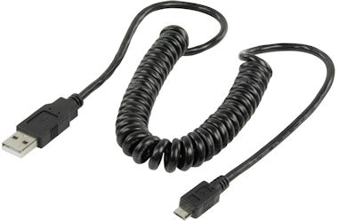USB-A <> USB Micro-B Krulsnoer