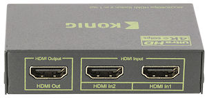 2-Weg HDMI Switch - Ultra HD