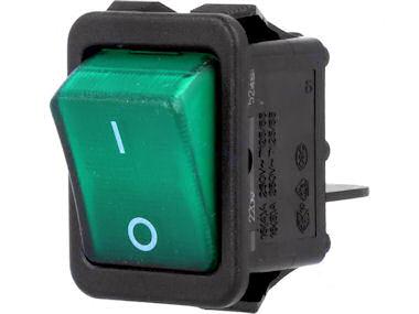Wipschakelaar - 2 polig -Groen