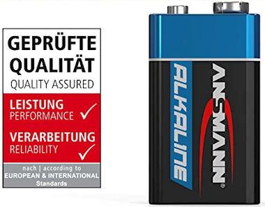 9V Alkaline Blokbatterij